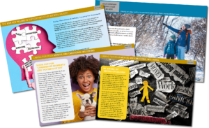 Picture of newsletter pages fanned out - Caring for your mental and emotional wellbeing